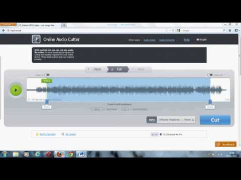 How to cut or trim your mp3 files without downloding any software for free