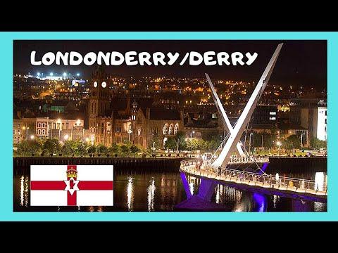 DERRY (LONDONDERRY), beautiful NIGHT VIEWS (NORTHERN IRELAND)