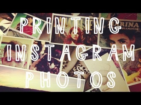 How To :: Printing Instagram Photos