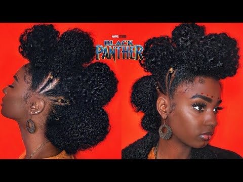 Black Panther Movie INSPIRED Natural Hairstyle | alexuscrown