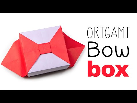 Origami Bow Box V2 Tutorial ♥︎ DIY ♥︎