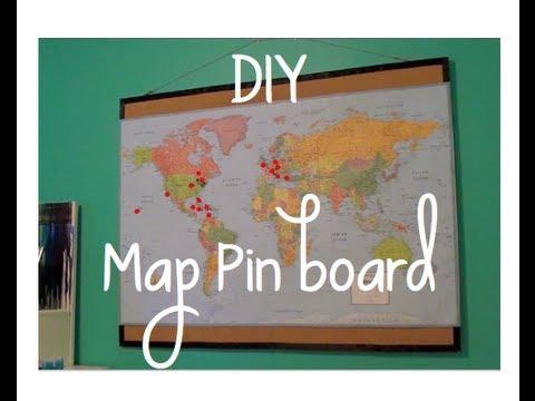 DIY Map Pinboard