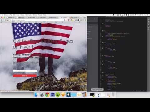 Creating a Landing Page in HTML