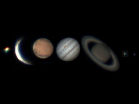 Solar system through telescope