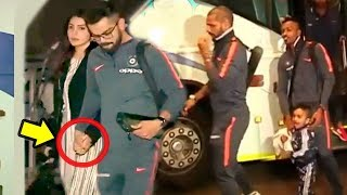 Virat Kohli & Anushka Sharma Leave With Indian Cricket Team For South Africa - Dhoni,Shikhar,Hardik