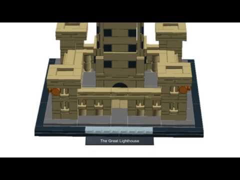 LEGO build of The Great Lighthouse of Alexandria - LDD step by step