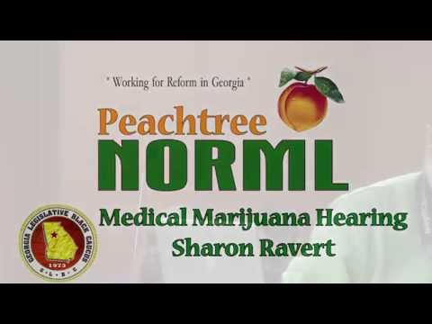 Sharon Ravert of Peachtree NORML delivers a message to the Minority Cannabis Commission