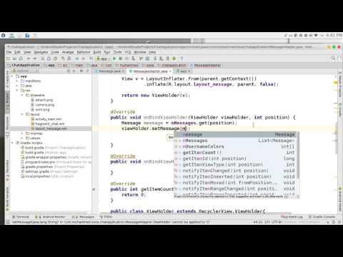 225 Android Studio Chat network JSON NodeJS JavaScript