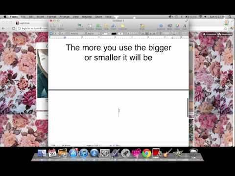 How to change the size of your font