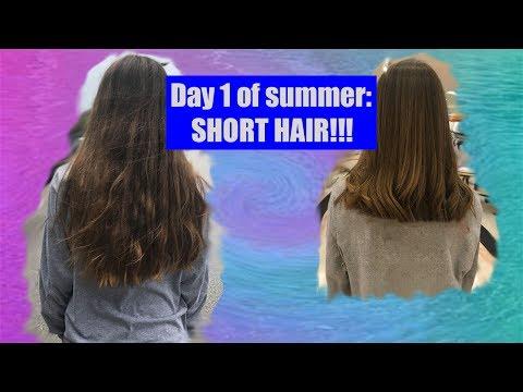 GOT MY HAIR CUT SHORT!? Day 1 of Summer Vlog 1