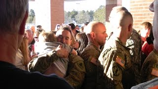 RETURNING SOLDIERS GET SURPRISE POLICE ESCORT | Jason Asselin