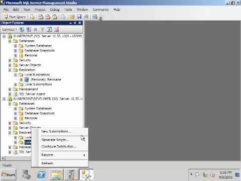 Configure Data Replication in SQL Server 2008 R2