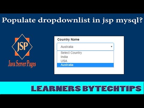 How to populate dropdownlist in jsp with mysql database server?By Learners Bytechtips