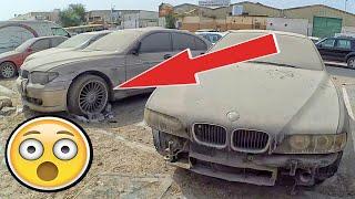Dubai abandoned BMW cars E39, E46, E34  Amazing abandoned