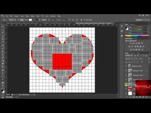 How to make collage in heart shape in photoshop