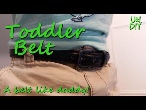 Toddler belt - DIY project