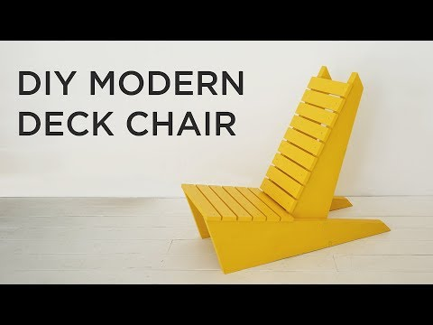 DIY Modern Deck Chair