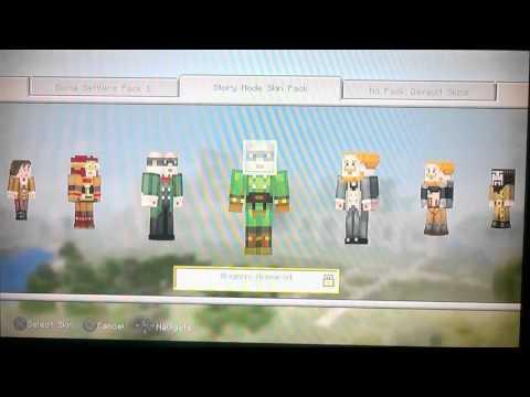 Minecraft PS3 Edition TU34 Update Skin Pack Glitch