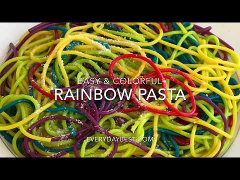 Rainbow Pasta! Colorful Spaghetti- Easy to Make!