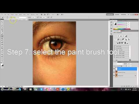 Photoshop Basics: Lightening dark eyes