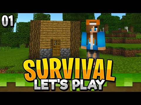 A NEW START! - Minecraft Bedrock Survival Let's Play EP.1 (PE WIN10)