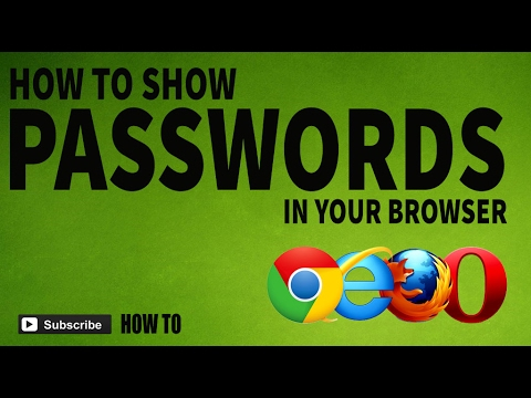 Show hidden password using html code | Find saved passwords