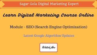 What is Latest Google Algorithm updates - Panda, Penguin, Pigeon, Hummingbird - Hindi
