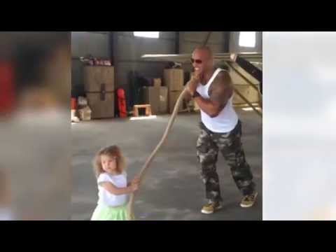 Dwayne 'The Rock' Johnson helps 2-year-old pull a plane in adorable Instagram
