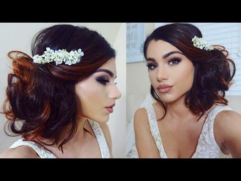 Full Coverage WEDDING Makeup Tutorial! + Romantic Bridal Bun Updo!