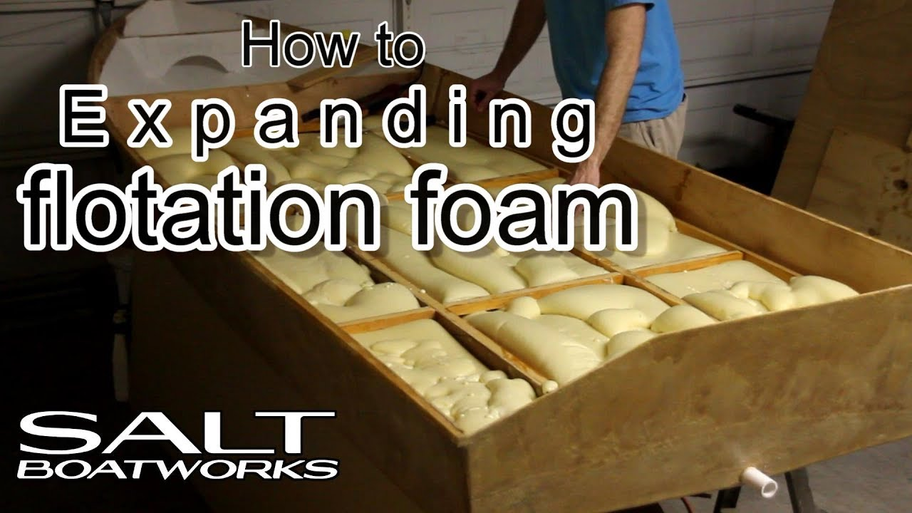 How to pour expanding flotation foam in a boat hull - How to Build a Boat Part 10