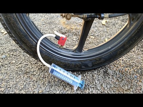 How To Make Mini Pump For BIKE and Bicycle - Emergency Mini Air Pump with Syringe
