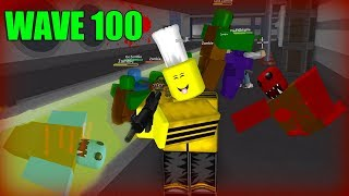 FIGHTING ENDLESS WAVES OF ZOMBIES.. (Roblox Zombie Attack)