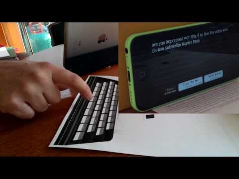 How to Print Your Own Paper Keyboard for iPhone App - AMAZING!!