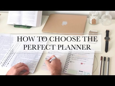 HOW TO CHOOSE THE PERFECT PLANNER - study tips