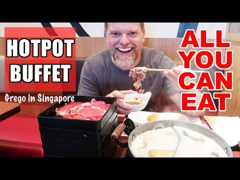 $10 All You Can Eat Hot Pot Buffet Singapore! Shabu Shabu and Sukiyaki