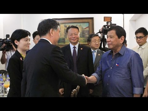 Chinese Vice Premier Wang Yang meets President Duterte in Philippines