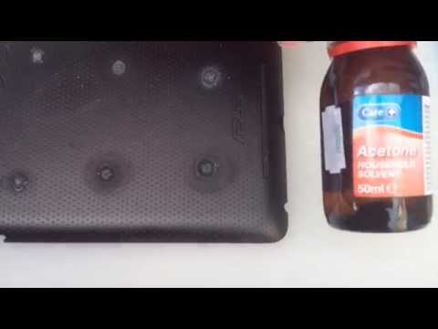 Removing Superglue From Uneven Plastic Surfaces Experiments - Part 6 Using Pure Acetone