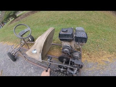 test riding the two speed go kart