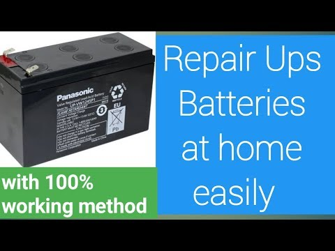 how to repair ups battery