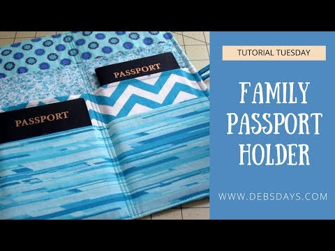 Sew a Family Passport Wallet Holder-  DIY Travel Project
