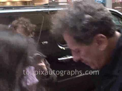 Geoffrey Rush - SIgning Autographs at Exit the King Stage Door on Broadway