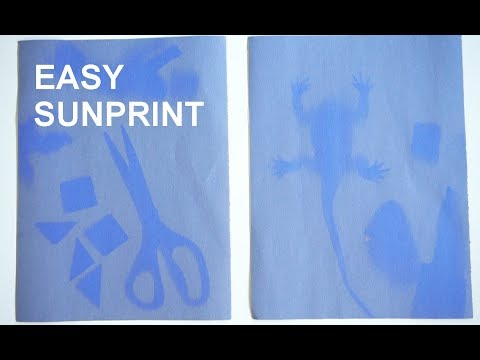 How to Make a Sunprint with Construction Paper