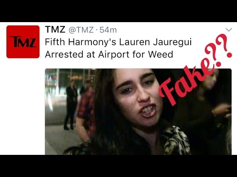 FIFTH HARMONY'S LAUREN JAUREGUI ARRESTED AT THE AIRPORT For WEED?