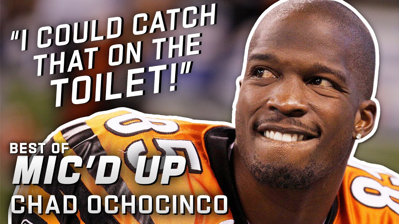 """""""I could catch that on the toilet!"""" Best of Chad 'Ochocinco' Johnson Mic'd Up"""