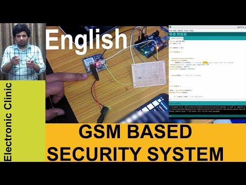 Arduino and Gsm based laser security system using, sim900A / sim900D gsm based home security