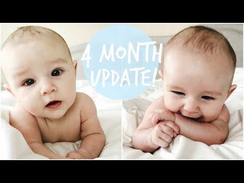 4 MONTH BABY UPDATE | BREASTFEEDING STRIKE, ROLLING OVER, & SLEEPING ALL NIGHT!