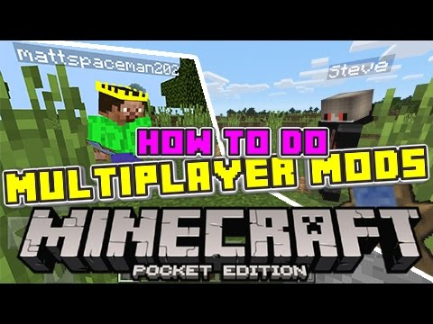 How to Play Minecraft Pocket Edition Mods/Addons in MULTIPLAYER!