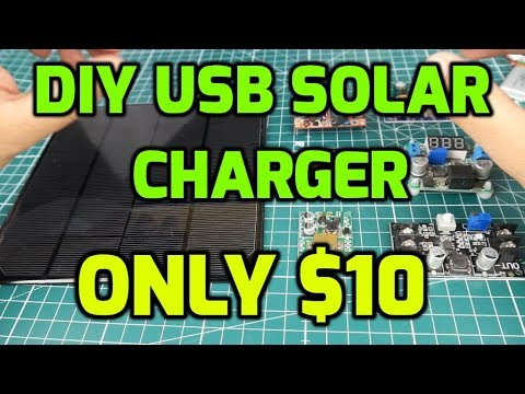 DIY Solar Panel USB Charger // Solar Charge GoPro, Phone, Power Bank