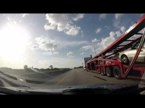 Highway Miami to Orlando.Estrada Miami para Orlando.