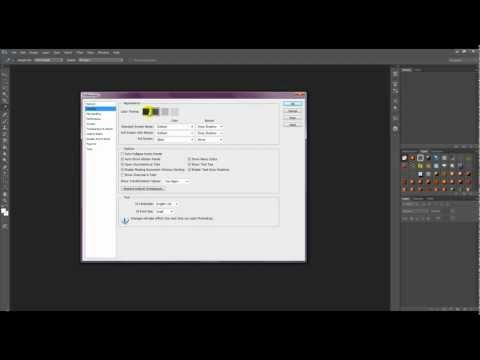 How to change the interface color in Photoshop CS6
